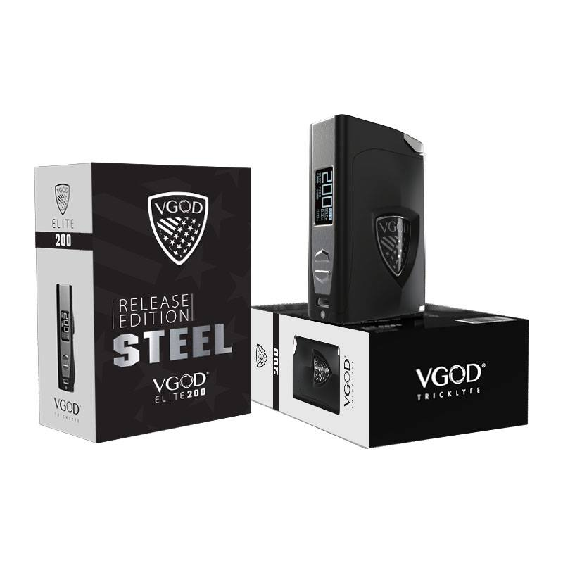 Personal Vapour THE VGOD ELITE 200W LIMITED EDITION-STEEL MOD